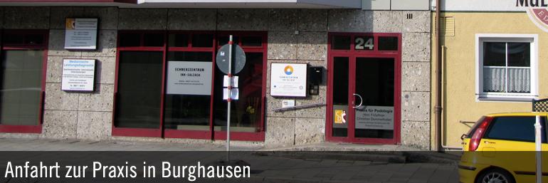 Anfahrt zur Paxis Burghausen